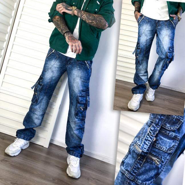 5749 Vigoocc джинсы мужские синие с боковыми карманами и декоративной отделкой осенние котоновые (29-36, 7 ед.) Vigoocc: артикул 1112781