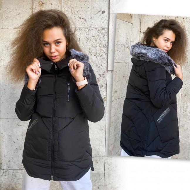 Kуртка женская черная зима Manlin 0908  Manlin: артикул 1113458