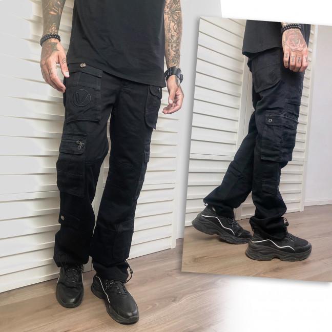 5801 Vigoocc джинсы мужские черные карго осенние котоновые (29-36, 7 ед.) Vigoocc: артикул 1113385