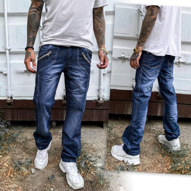 5834-3 Vigoocc джинсы мужские молодежные с декоративной отделкой синие осенние котоновые (28-34, 7 ед.) Vigoocc: артикул 1114121