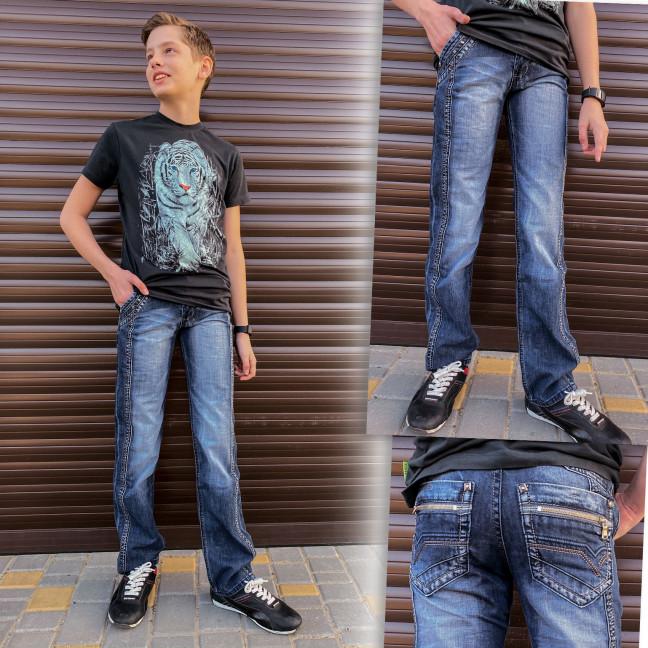 3203 Vigoocc джинсы на мальчика синие осенние котоновые (24-30, 7 ед.) Vigoocc: артикул 1114360