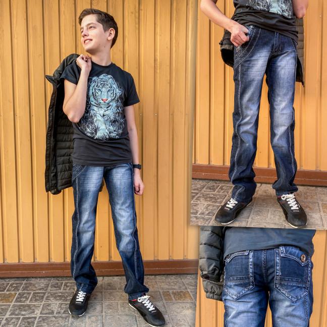 3198 Vigoocc джинсы на мальчика синие осенние котоновые (24-30, 7 ед.) Vigoocc: артикул 1114357
