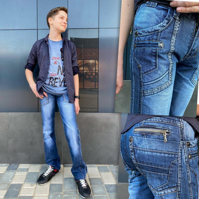 3202-2 Vigoocc джинсы на мальчика с декоративной отделкой осенние котоновые (24-30, 7 ед.) Vigoocc: артикул 1113848