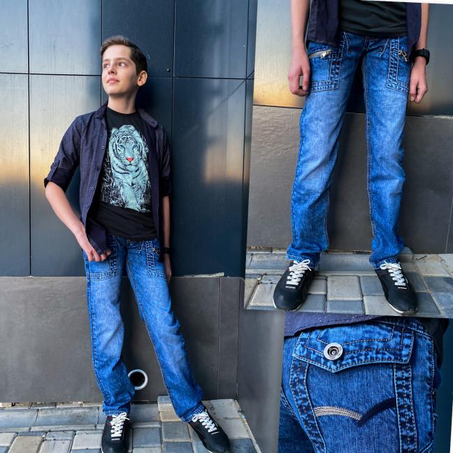 3166 Vigoocc джинсы на мальчика голубые коттоновые (7 ед. размеры: 24.25.26.27.28.29.30) Vigoocc: артикул 1112912