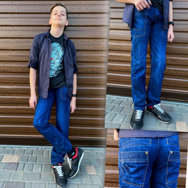 3277 Vigoocc подростковые джинсы на мальчика синие коттоновые (7 ед. размеры: 24.25.26.27.28.29.30) Vigoocc: артикул 1114355