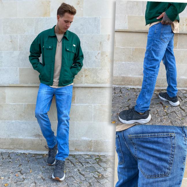 4039 Big&Grays джинсы мужские полубатальные светло-синие демисезонные котоновые (32,34,34,36,36,38,40, 7 ед.) Big&Grays: артикул 1115587