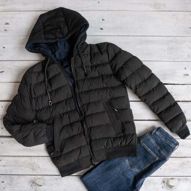 5551-1 RZZ мужская черная/синяя куртка двухсторонняя плащевка+холлофайбер (48-56, 5ед.) RZZ: артикул 1116199