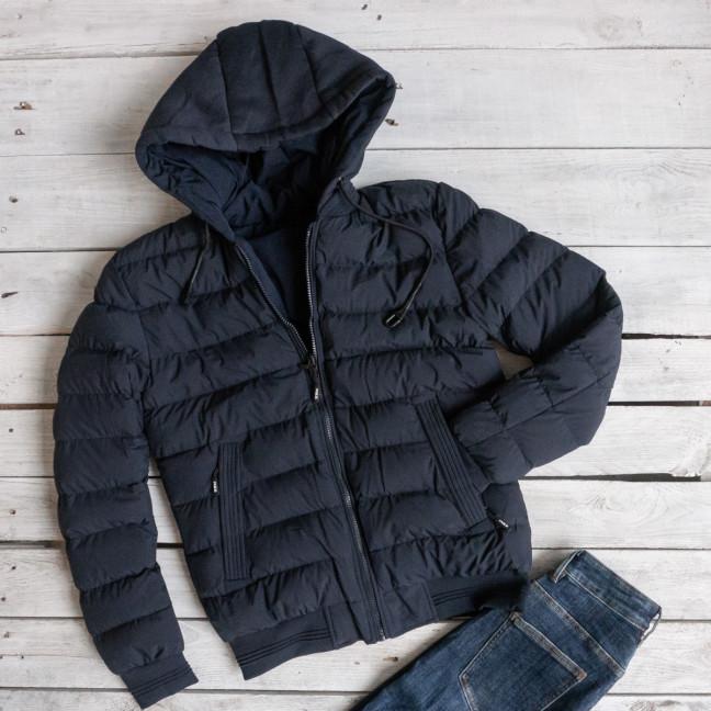 5551-2 RZZ мужская синяя куртка двухсторонняя плащевка+холлофайбер (48-56, 5ед.) RZZ: артикул 1116200