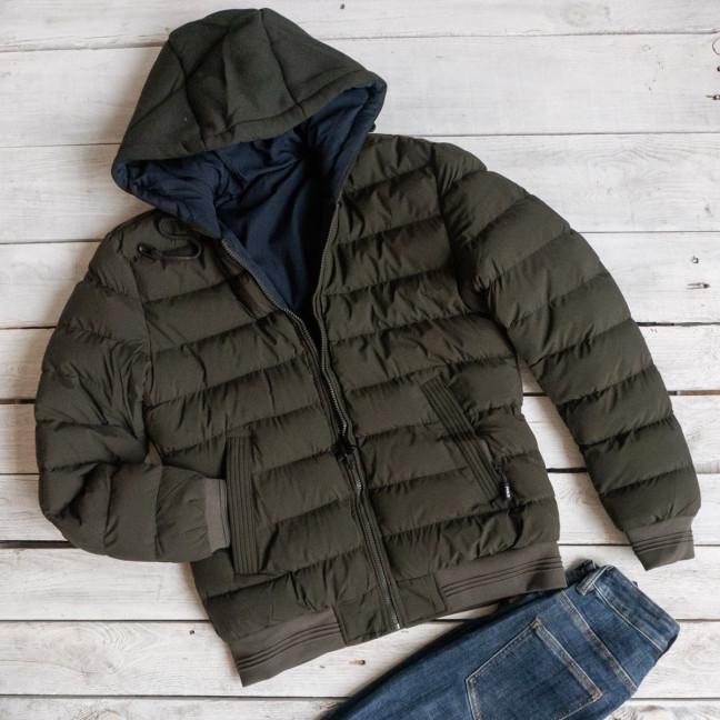 5551-3 RZZ мужская хаки/синяя куртка двухсторонняя плащевка+холлофайбер (48-56, 5ед.) RZZ: артикул 1116201