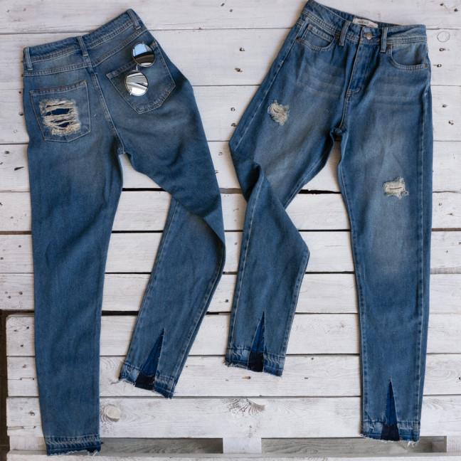 0006 Miss Silk джинсы женские с рванкой коттоновые (8 ед. евро-размеры: 34.34.36.36.38.38.40.42) Miss Silk: артикул 1116284