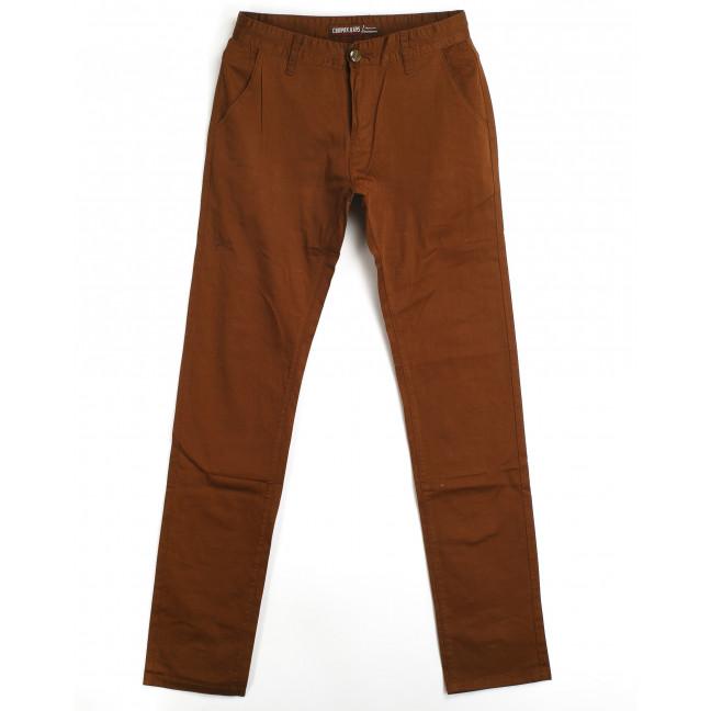 брюки мужские приуженные коричневые 87013 (27-34, 8 ед., молодёжка) Compax Compax: артикул 1064215