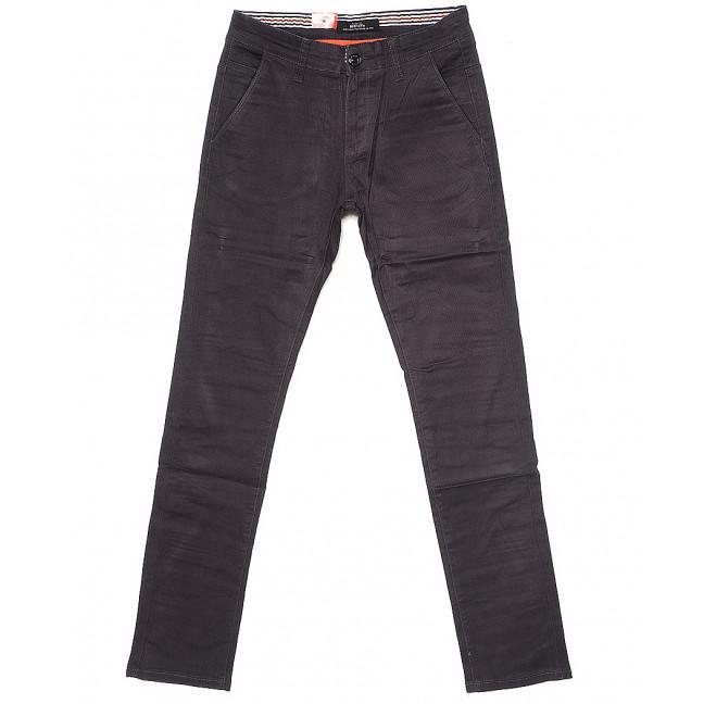 0038-6 Feerars брюки мужские с косым карманом серые весенние стрейчевые (29-38, 8 ед.) Feerars: артикул 1087767