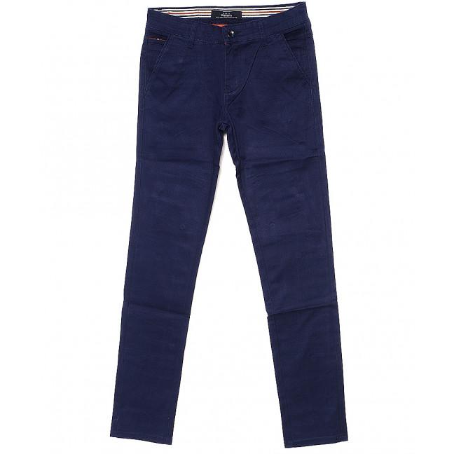 0050-1 Feerars брюки мужские молодежные с косым карманом синие весенние стрейчевые (28-36, 8 ед.) Feerars: артикул 1087771