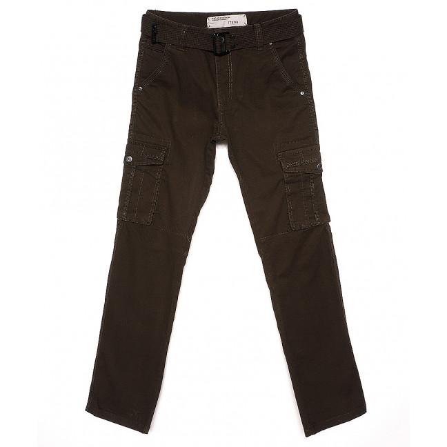 1672-4 Iteno брюки мужские карго хаки демисезонные стрейч-котон (30-38, 6/12 ед.) Iteno: артикул 1088619
