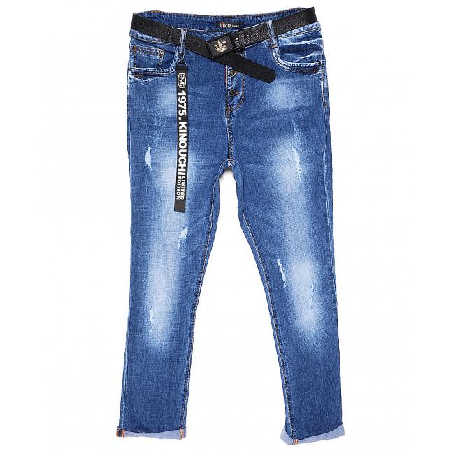 6092-3 Like джинсы женские батальные с царапками весенние стрейчевые (30-36, 6 ед.) Like: артикул 1089360