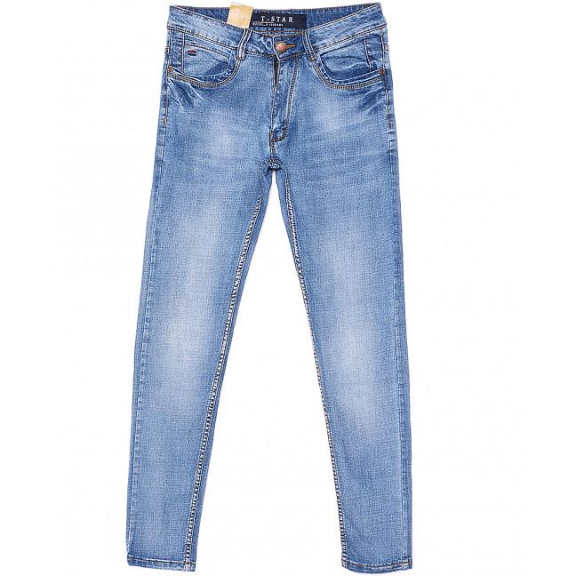 9816 T-Star джинсы мужские молодежные зауженные летние стрейчевые (27-34, 8 ед.) T-Star: артикул 1093541