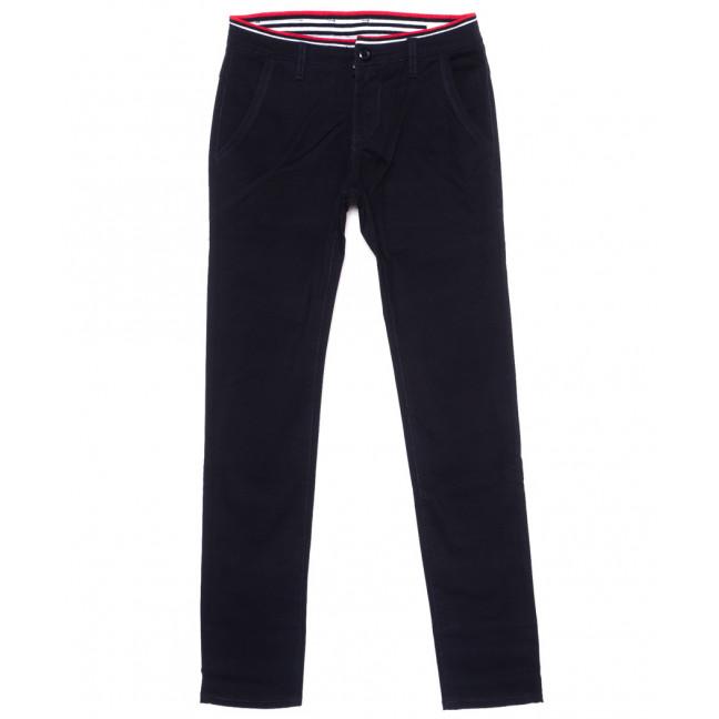 67111 Pr.Minos брюки мужские молодежные темно-синие стрейчевые (27-34, 8 ед.) Pr.Minos: артикул 1094495