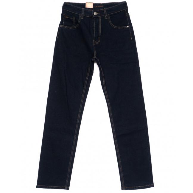 120205 LS джинсы мужские классические темно-синие осенние стрейчевые (30-38, 8 ед.) LS: артикул 1094611