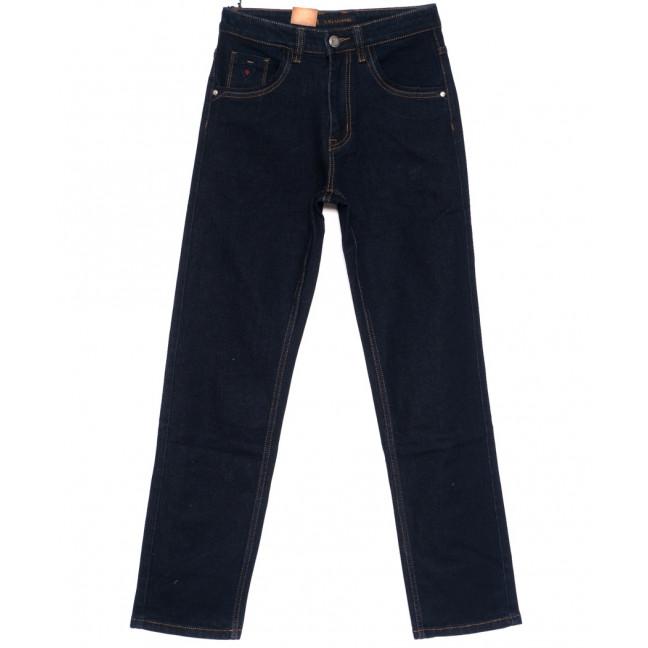 120211 LS джинсы мужские классические темно-синие осенние стрейч-котон (30-38, 8 ед.) LS: артикул 1094604
