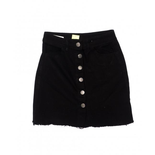 1111-1 Defile юбка джинсовая черная на пуговицах осенняя котоновая (34-40, евро, 6 ед.) Defile: артикул 1096061