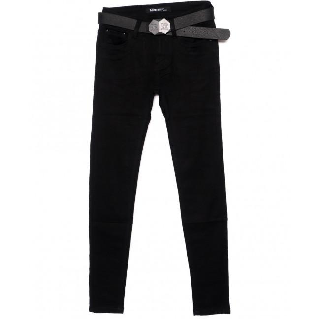 81082 Vanver джинсы женские черные зауженные осенние стрейчевые (25-30, 6 ед.) Vanver: артикул 1095358