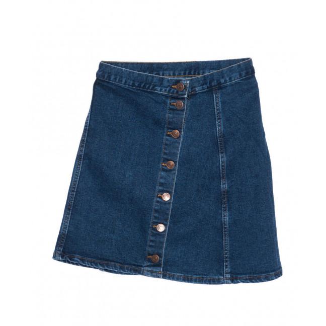 1107 X юбка джинсовая на пуговицах синяя осенняя котоновая (XS-L, 6 ед.) X: артикул 1096760
