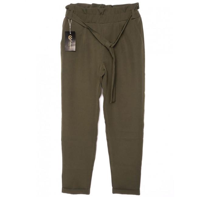 0002-хаки X брюки женские с поясом хаки осенние стрейчевые (42-48, норма, 4 ед.)  X: артикул 1096193