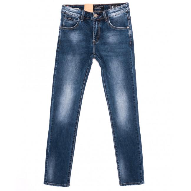 2150 Fang джинсы мужские молодежные синие осенние стрейчевые (28-34, 8 ед.) Fang: артикул 1095534