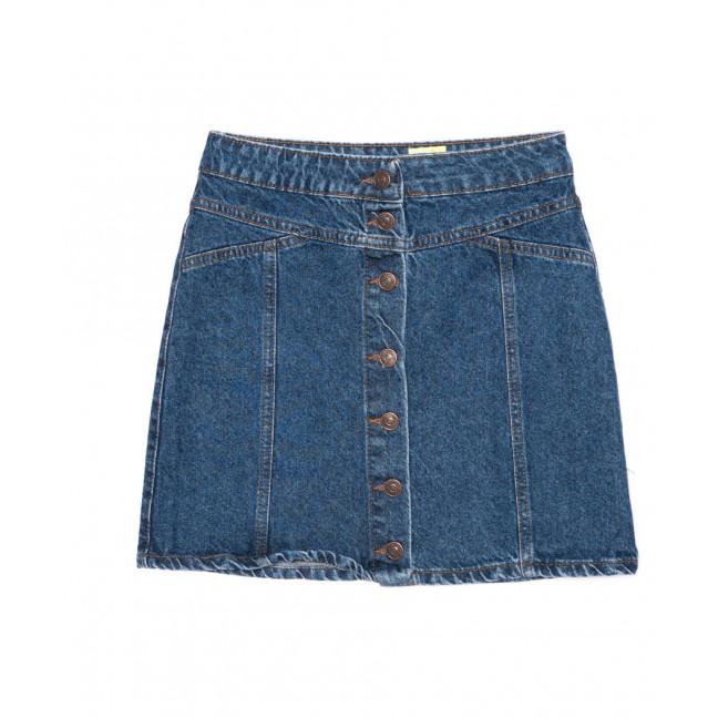 1913 X юбка джинсовая на пуговицах синяя осенняя котоновая (XS-L, 6 ед.) X: артикул 1096756