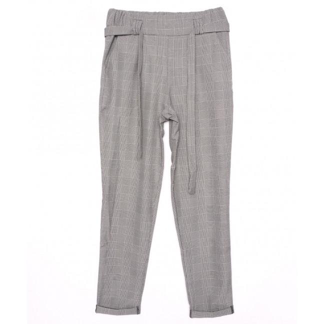 0529 X брюки женские клетка с поясом осенние стрейчевые (40-46, норма, 4 ед.) X: артикул 1096081