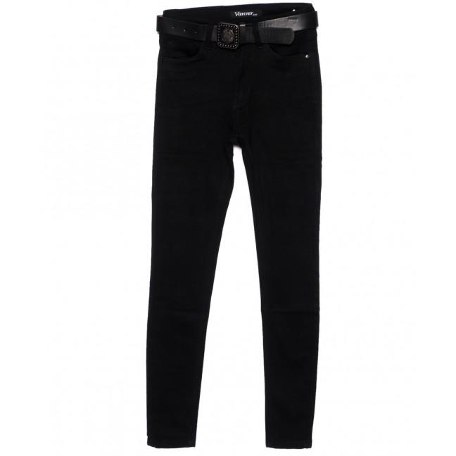 81253 Vanver джинсы женские черные зауженные осенние стрейчевые (25-30, 6 ед.) Vanver: артикул 1095350