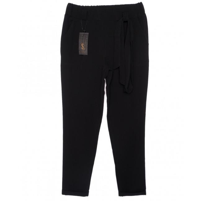 0540-черный X брюки женские черные с поясом осенние стрейчевые (40-46, норма, 4 ед.) X: артикул 1096074