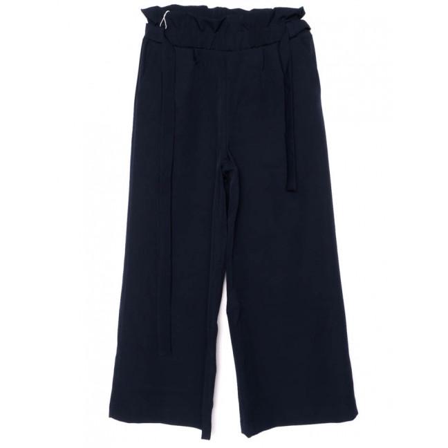 0007-синий X брюки женские с поясом темно-синие осенние стрейчевые (42-48, норма, 4 ед.)  X: артикул 1096187