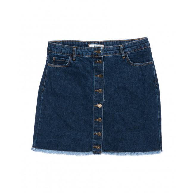 6009-B2 Real Focus юбка джинсовая батальная на пуговицах осенняя котоновая (30-34, 5 ед.) Real Focus: артикул 1096485