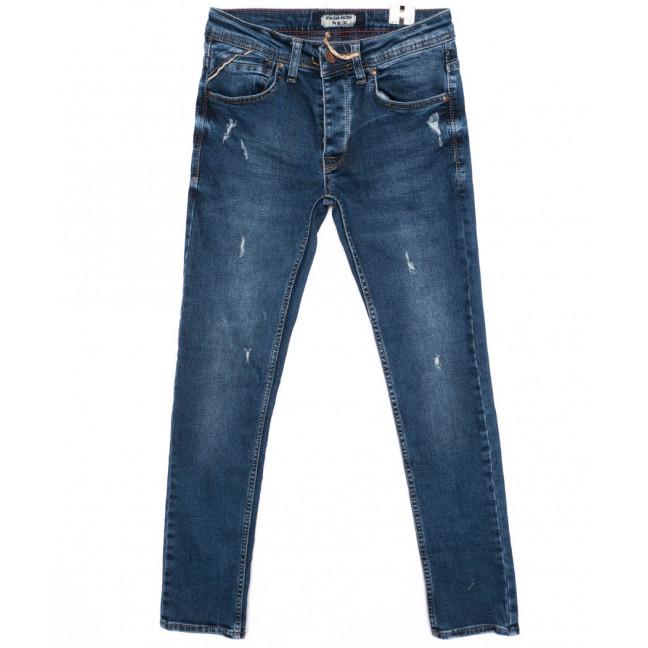 5955 Fashion Red джинсы мужские с рванкой синие осенние стрейчевые (29-36, 8 ед.) Fashion Red: артикул 1096442