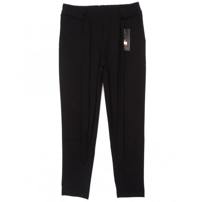 0543-черный X брюки женские черные с поясом осенние стрейчевые (40-46, норма, 4 ед.) X: артикул 1096084