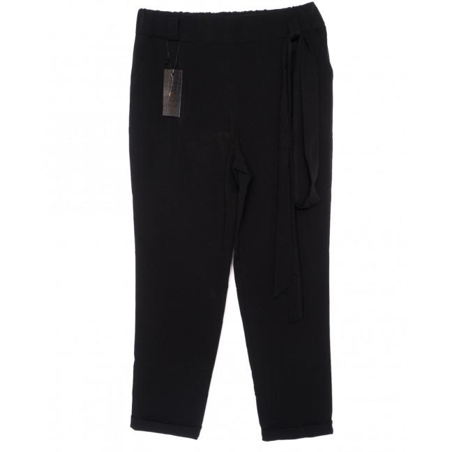 0541-черный X брюки женские батальные черные с поясом осенние стрейчевые (48-54, батал, 4 ед.) X: артикул 1096077