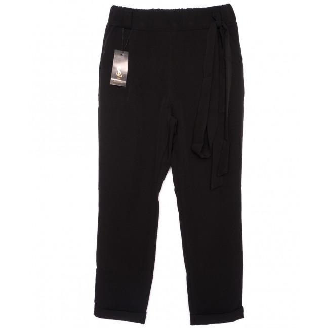 0533 X брюки женские батальные черные с поясом осенние стрейчевые (48-54, батал, 4 ед.) X: артикул 1096069