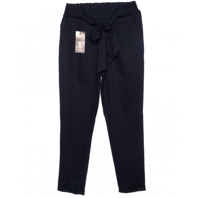 0534-темно-синий X брюки женские темно-синие с поясом осенние стрейчевые (40-46, норма, 4 ед.) X: артикул 1096094