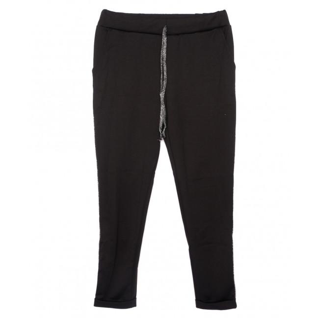 0514-темный лампас X брюки женские черные с лампасами осенние стрейчевые (42-46, норма, 3 ед.) X: артикул 1096068