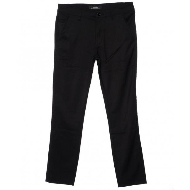 0208-1 Feerars брюки мужские молодежные черные осенние стрейч-котон (28-36, 8 ед.) Feerars: артикул 1095210