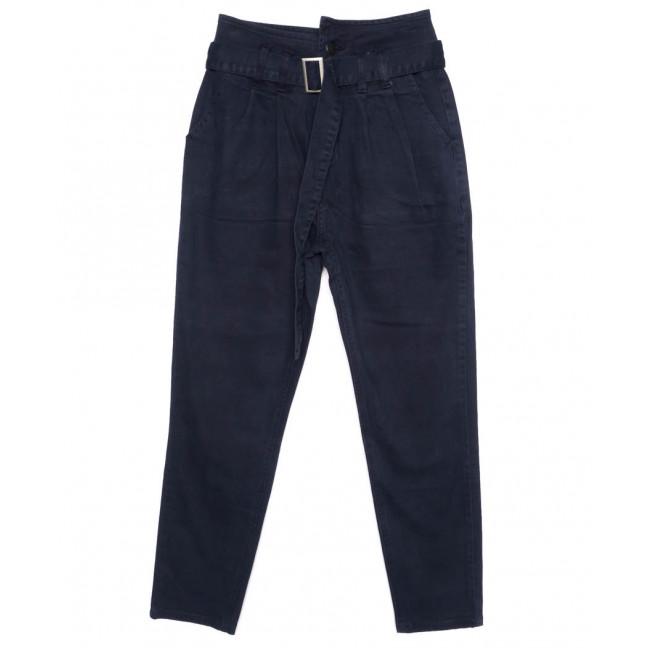 2002-5 X брюки женские на поясе стильные синие осенние стрейчевые (S-2XL, 5 ед.)  X: артикул 1097458