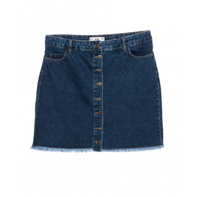 6009-02 Real Focus юбка джинсовая батальная черная осенняя котоновая (30-34, 5 ед.) Real Focus: артикул 1096978
