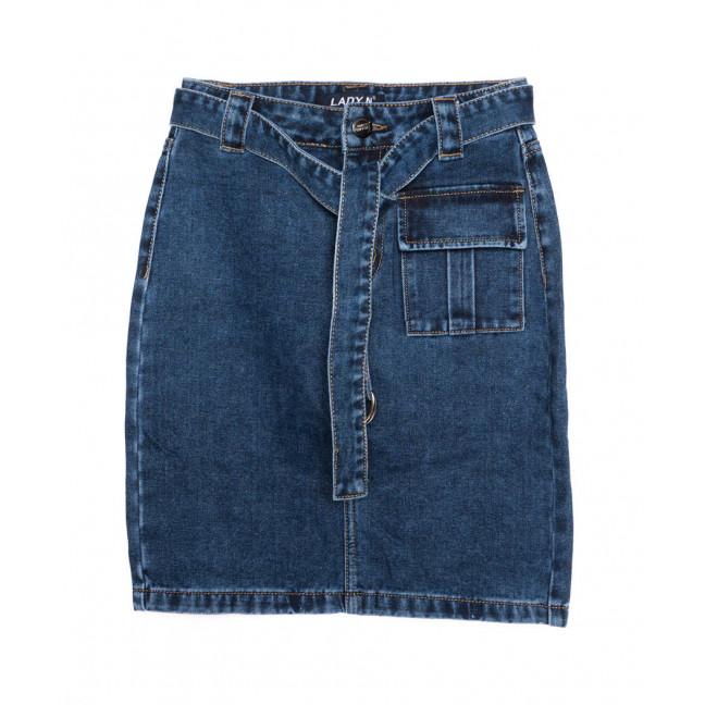 1402 Lady N юбка джинсовая с поясом синяя осенняя котоновая(25-30, 6 ед.) Lady N: артикул 1097533