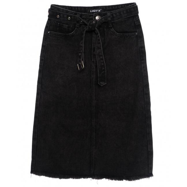 1397 Lady N юбка джинсовая черная осенняя котоновая (25-30, 6 ед.) Lady N: артикул 1097532