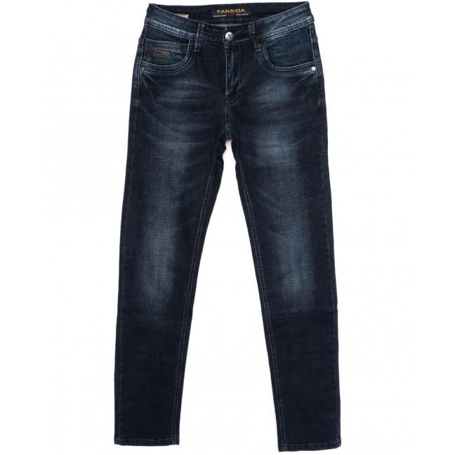 6114 Fansida джинсы мужские синие осенние стрейчевые (30-38, 8 ед.) Fansida: артикул 1098359