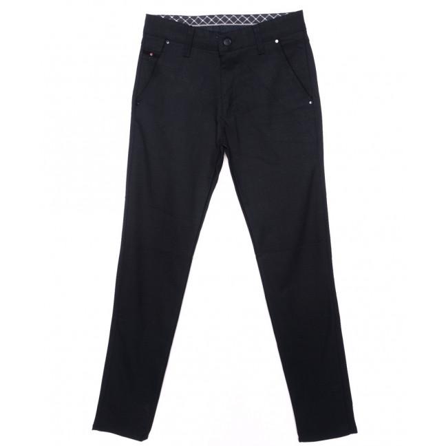 0788-14 New Jarsin брюки мужские темно-синие осенние стрейч-котон (30-36, 8 ед.) New Jarsin: артикул 1097027