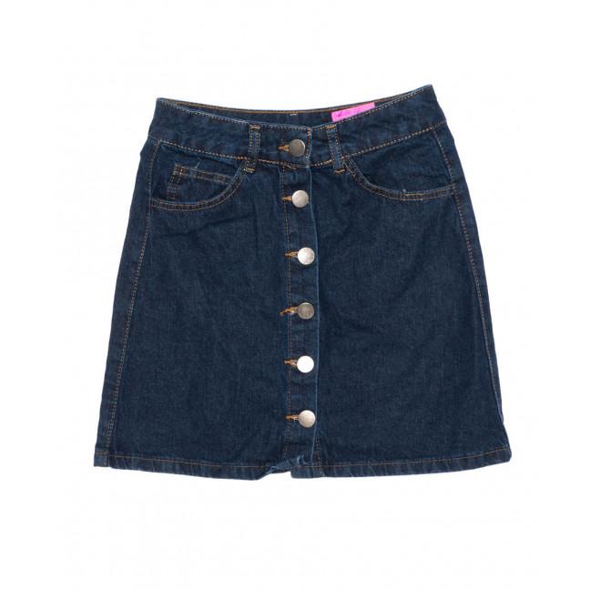 0803-2 X юбка джинсовая женская синяя на кнопках осенняя котоновая (34-40, евро, 6 ед.) X: артикул 1096975