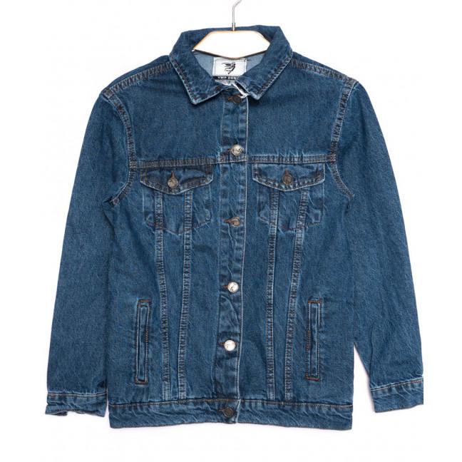 3370 YMR Moda куртка джинсовая женская синяя осенняя котоновая (S-XL, 4 ед.) YMR moda: артикул 1098555