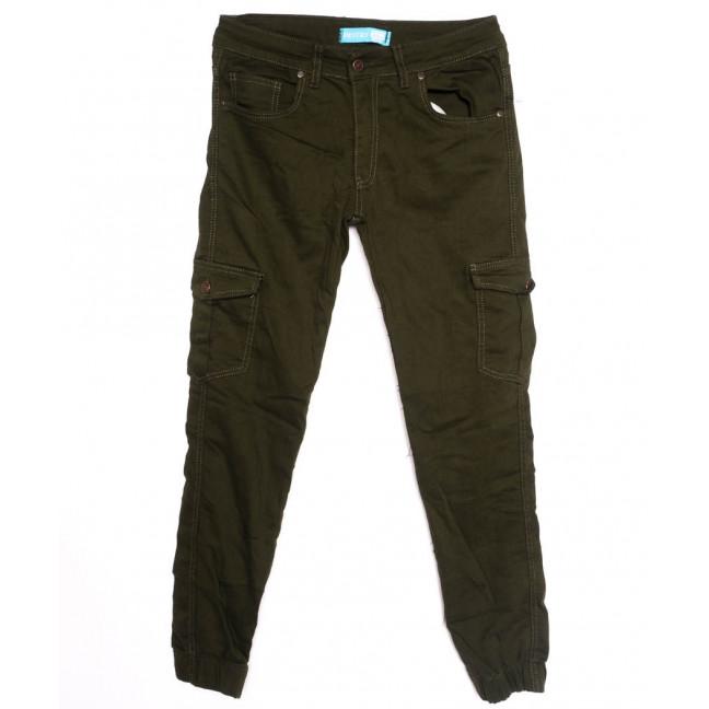 5946-хаки Destry джинсы мужские на резинке хаки осенние стрейчевые (29-36, 8 ед.) Destry: артикул 1097558